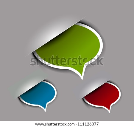 vector chat box icon design element. - stock vector