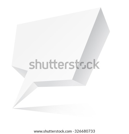 Vector chat bubble with place for text - stock vector
