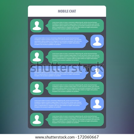 Vector chat frames. Message boxes for your text - stock vector