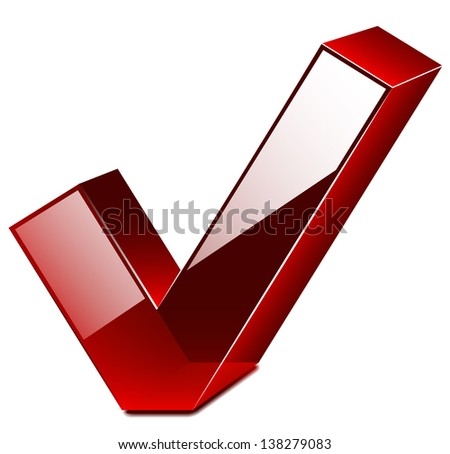 Vector check mark stickers and banner - stock vector
