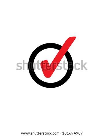 Vector Check Mark Symbol - stock vector