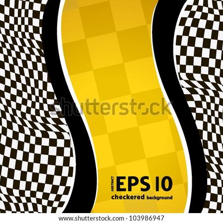 vector checkered racing background. EPS10 - stock vector