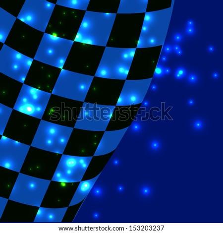 vector checkered racing flag background. EPS10 - stock vector