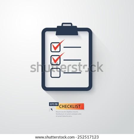 Vector checklist illustration - stock vector
