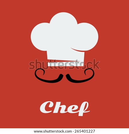 Vector chef card flat. Master-chef school. File format eps 10. - stock vector