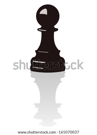 vector chess pawn with the reflection of a king - stock vector