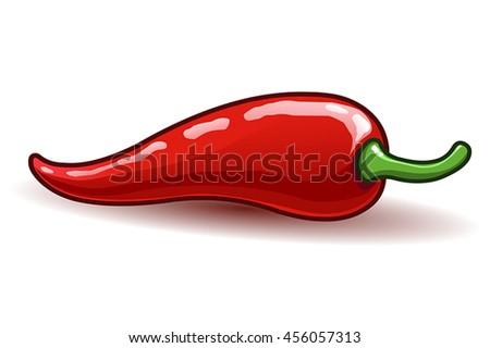 Vector chili pepper - stock vector