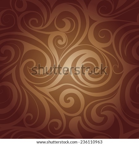 Vector. Chocolate liquid swirls. Abstract seamless pattern. - stock vector