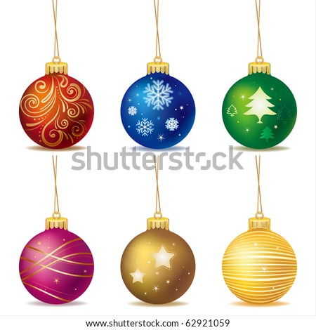 vector christmas ball - stock vector