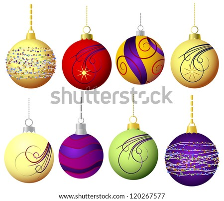 Vector Christmas balls - stock vector