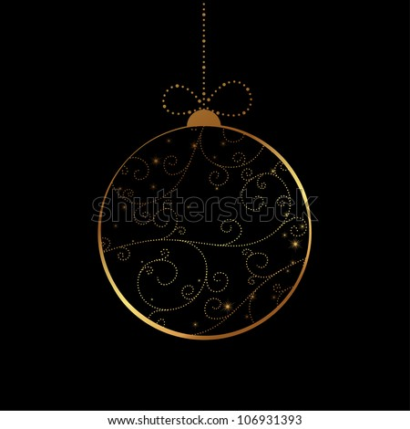 Vector Christmas bauble - stock vector