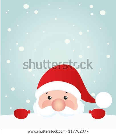 Vector Christmas element. Vintage santa claus - stock vector