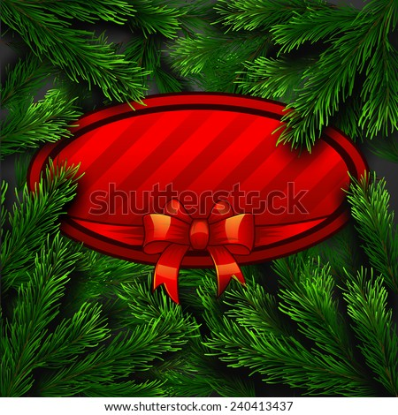 Vector Christmas Greeting Card. Happy new year xmas - stock vector