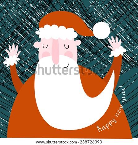 Vector Christmas illustration - stock vector