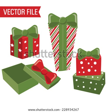 Vector Christmas Presents - stock vector