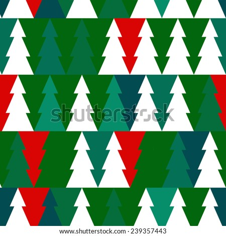Vector Christmas seamless pattern with chrismas trees. EPS illustration. - stock vector