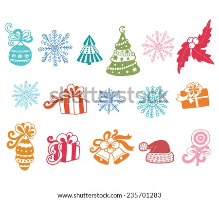 Vector christmas set - stock vector