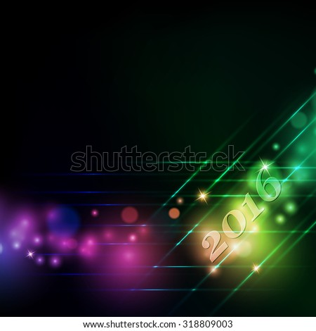 vector Christmas shining greeting card design. Eps10 - stock vector