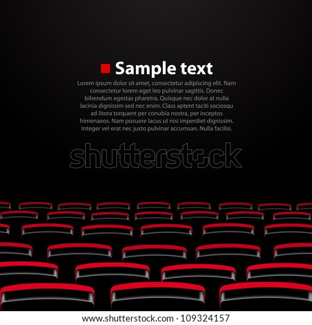 Vector cinema auditorium with and seats. Variant 2 - stock vector