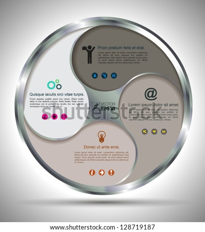 Vector circle business concepts with  icons / can use for info-graphic / loop business report or plan / modern template / education template / business brochure /  system diagram - stock vector