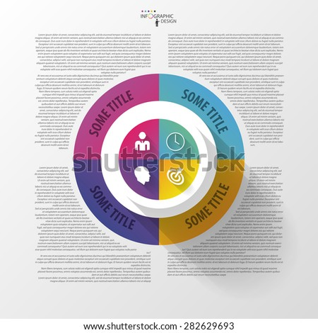 Vector circle business concepts with icons. Infographic - stock vector