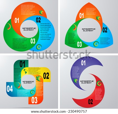 Vector Circle Infographic . Business Infographics Element Circle Chart Vector Illustration. Useful for Diagram . Number Option . Step up Options . Presentation . Web Design.  - stock vector