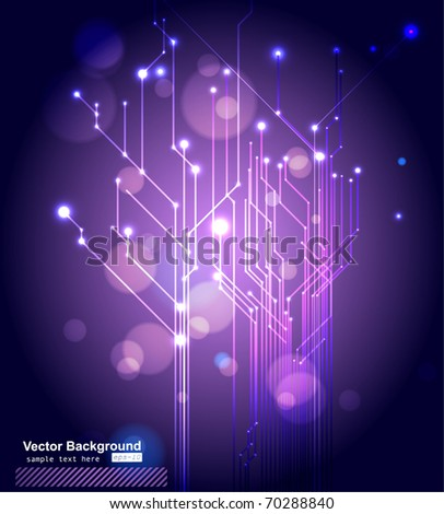 Vector Circuit Board - stock vector