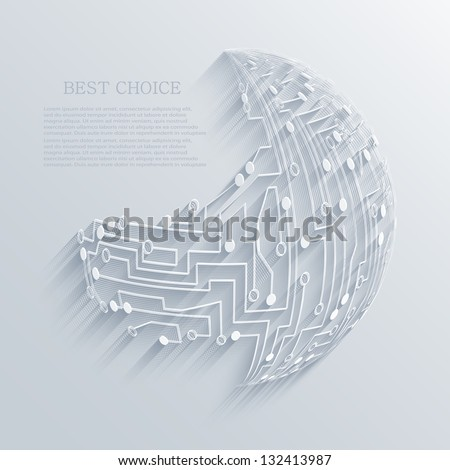 vector circuit board background. Eps10 - stock vector