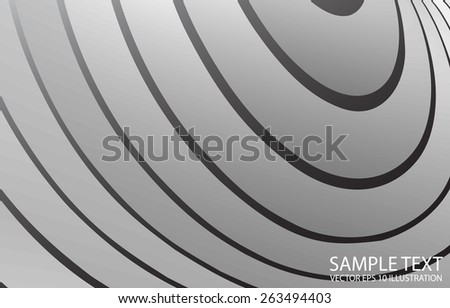 Vector circular abstract metal background illustration - Metal vector circular abstract  design template - stock vector