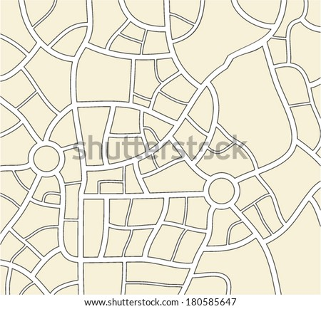 vector city map background  - stock vector