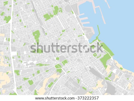 vector city map of Palermo, Italy - stock vector