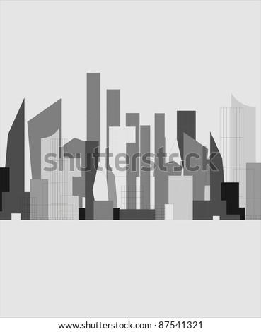 vector city silhouette - stock vector