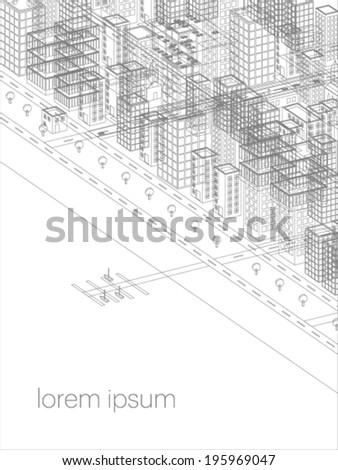 vector cityscape illustration - stock vector