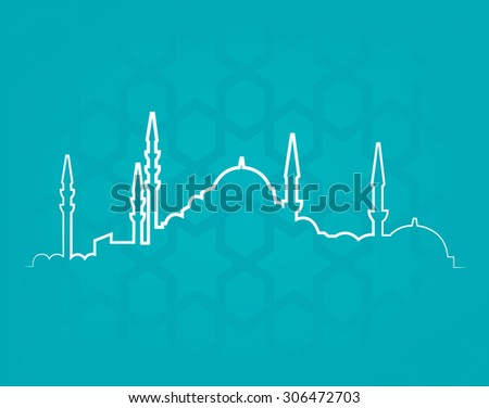 vector cityscape of Istanbul - stock vector
