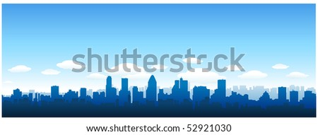 Vector cityscape skyline - stock vector
