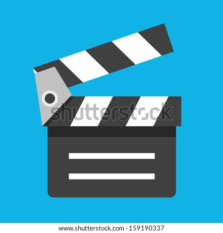 Vector Clapboard Icon - stock vector
