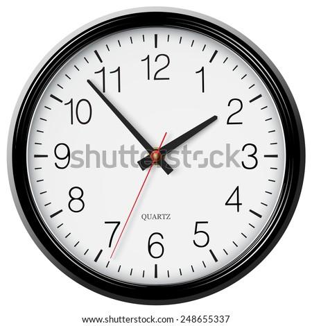 Vector classic round wall clock - stock vector