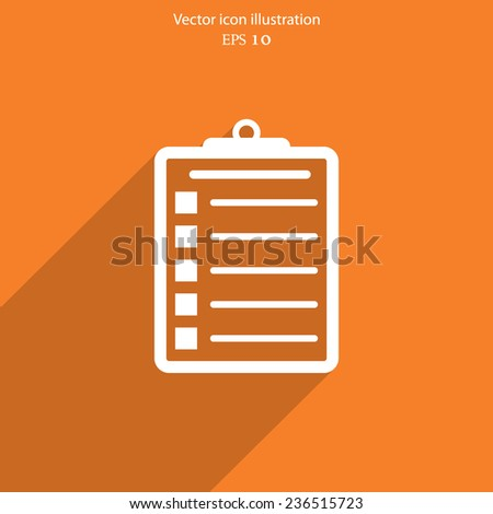 Vector clipboard web icon. Eps10. - stock vector