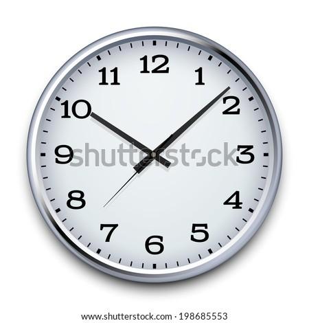 Vector Clock, eps10 - stock vector