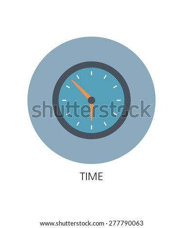 Vector clock flat icon  - stock vector
