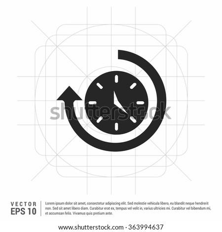 Vector Clock Icon. Vector Time icon - stock vector