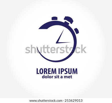 Vector clock, time company logo design, business symbol concept. Company logo design. - stock vector