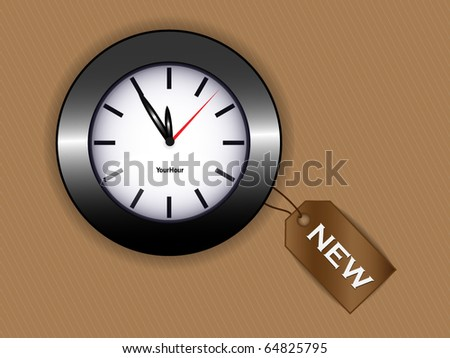 Vector clock with tag - stock vector