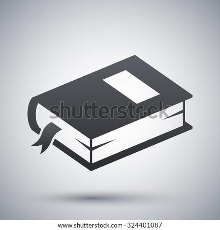 Vector closed book icon - stock vector