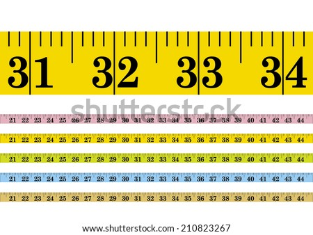 Vector clothmeasure / measuring tape - stock vector