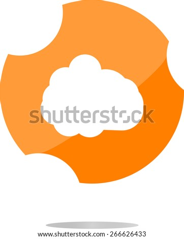 vector cloud icon, web button - stock vector