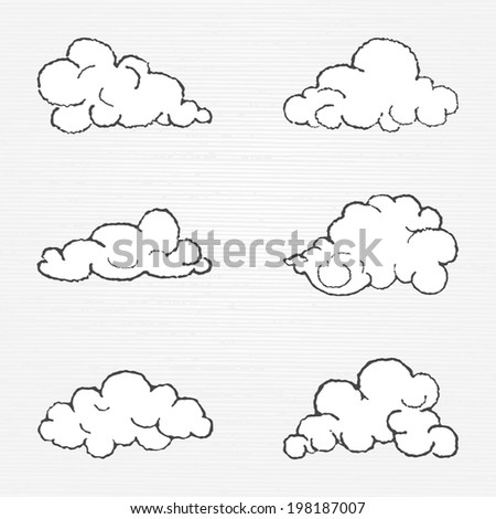 Vector cloud shapes collection  - stock vector