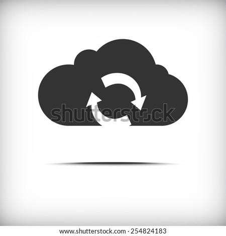 Vector cloud sync icon - stock vector