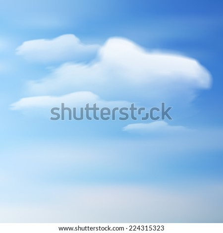 Vector clouds on a blue sky - stock vector