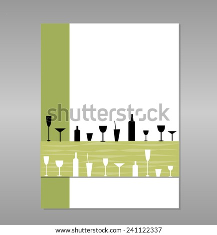 Vector cocktail menu card  - stock vector